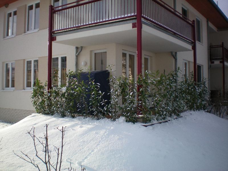 Balkon im Schnee