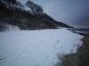 Steilküste im Schnee
